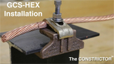 GCS-HEX Mechanical Ground to Steel Installation