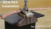 GCS-HEX Mechanical Ground to Steel Installation
