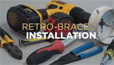 RACO Retro-Brace® Support Ceiling Brace & Box Kit