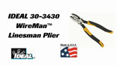 30-3430 WireMan™ SmartGrip™ Linesman Side Cutting Pliers