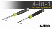 Klein® 4-in-1 Electronics Screwdrivers