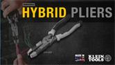 Klein® Journeyman Hybrid Pliers J2158CR