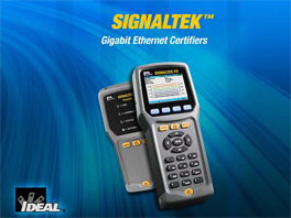 IDEAL SIGNALTEK™ Gigabit Ethernet Certifiers