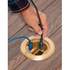 Install receptacle in a concrete floor box, the NEAT WAY