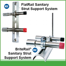 Sanitary Conduit Support Systems for Food & Beverage Safety