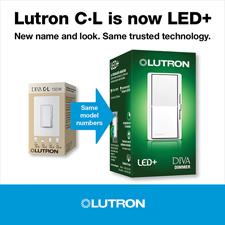 Lutron C·L is now LED+