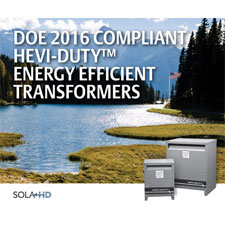 SolaHD DOE 2016 Energy Efficient Transformers