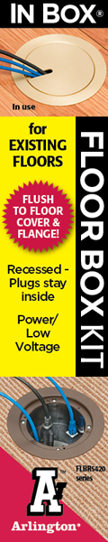 Floor Box Kit with Recessed Wiring Device