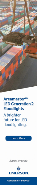 Emerson LED Floodlights for Hazardous Zone 1 Locations Use 80 Percent Less Energy than HID Luminaires