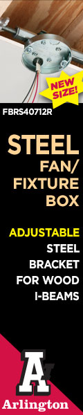 Arlington Steel Fan/Fixture Box