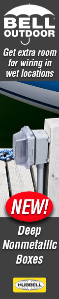 Get extra room for wiring outdoors with Bell Deep PVC boxes