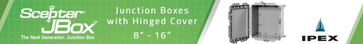 IPEX JBox Junction Boxes with Hinged Cover