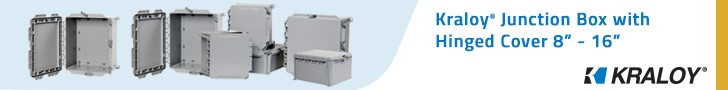 Kraloy JBox Junction Boxes with Hinged Cover