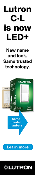 Lutron C·L is now LED+