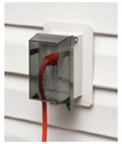 Arlington Introduces One-piece, Easy to Install OUTLET BOX for Siding with Installed Weatherproof Cover