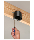 New from Arlington!  Adjustable In/Out™ Box for Ceiling Fixtures
