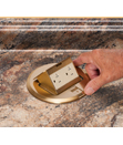 COUNTERTOP BOX KITS with round plastic box and metal covers