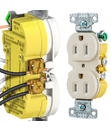 XClamp Tamper-Resistant Receptacle from Hubbell Wiring Device-Kellems Speeds Installation Time
