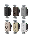 New Hubbell Pro USB Duplex Receptacles from Hubbell Wiring Device-Kellems Offer Charging and Space Savings