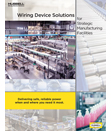 Wiring Device Solutions for Strategic Manufacturing Facilities: A New Guide to Hubbell Solutions