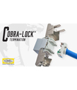 Fast, Reliable, Efficient Terminations with Hubbell's New Category 6 Jacks featuring Cobra-Lock Termination