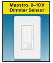 Lutron's newest Maestro® sensor combines 0-10V dimming and PIR sensing into one solution.