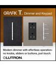 GRAFIK T Phase Selectable Dimmer and RF C.L Hybrid Keypad
