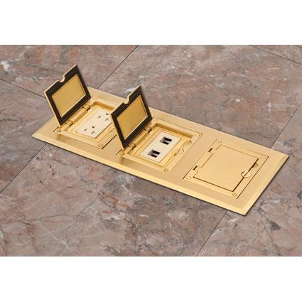 Interlocking Gangable Floor Box for New Concrete