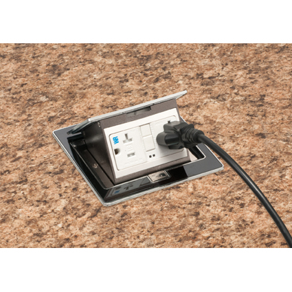 Steel Countertop Box Kits...SECURE attachment, multiple receptacles