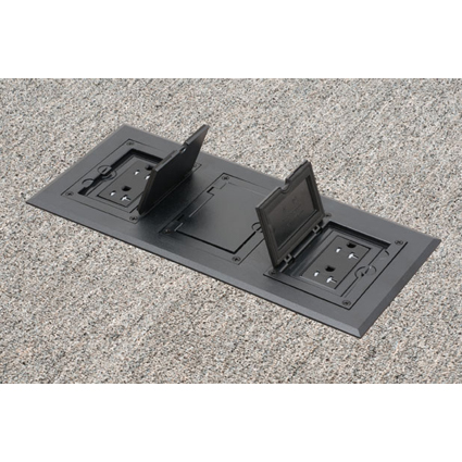 Gangable Floor Box with PLASTIC covers