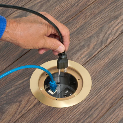 Floor Box Cover Kits with Ultra-thin steel flanges deliver flush installation