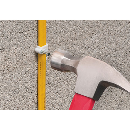 Easy Attachment of Flat NM Cable to Concrete Block
