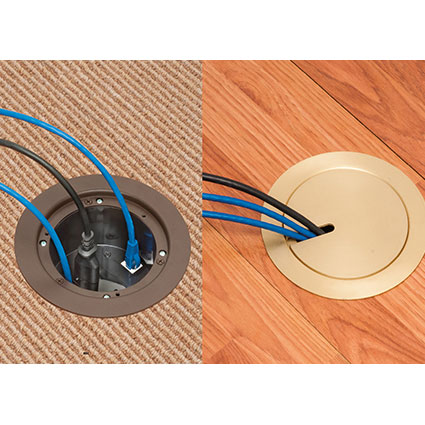 Recessed Floor Box Kit for Existing Floor
