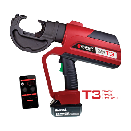BURNDY® PATRIOT® PAT750T3 Battery Crimper Series with T3 Technology
