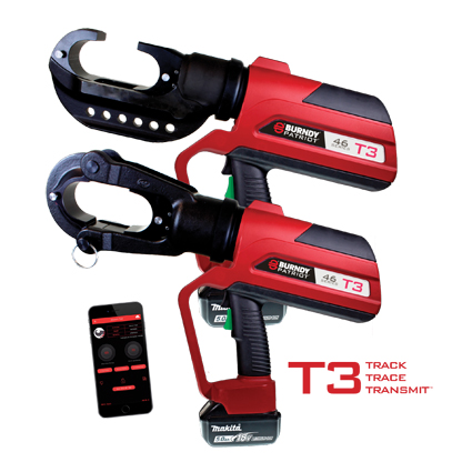 BURNDY® PATRIOT® PAT46T3 Crimping Tool with T3 Technology