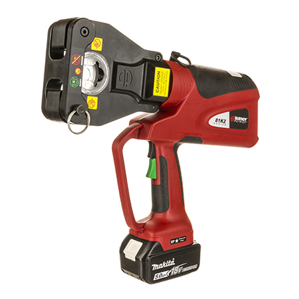 Newly Redesigned BURNDY® PATRIOT® PAT81K2 Series of Dieless Battery Actuated Hydraulic Crimping Tools