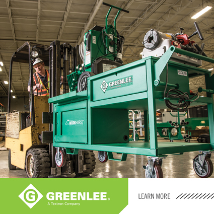 Greenlee® Introduces First Dedicated Mobile Bending and Threading Station to the Electrical Market