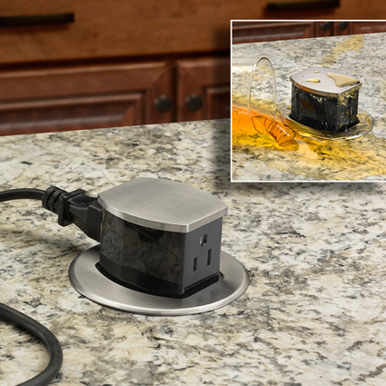 Hubbell Introduces First Pop Up Receptacle Ul Listed For Countertops