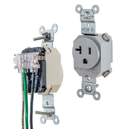 Hubbell SNAPConnect® modular wiring devices now include full line of single receptacles