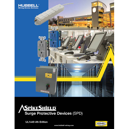 Hubbell Wiring Device-Kellems Publishes New SpikeShield Surge Protective Devices Brochure