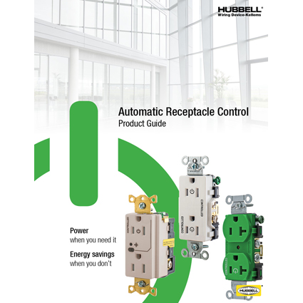 Hubbell Introduces New Tamper-Resistant Controlled Receptacles for Automatic Receptacle Control