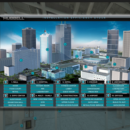 New eTour from Hubbell Offers Virtual Look at Solutions that Reduce Installation Time
