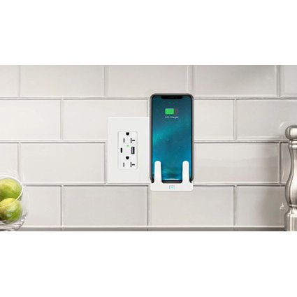 Hubbell Wiring Device-Kellems Introduces Combination Wireless Wall-Mount Charger and USB Outlet