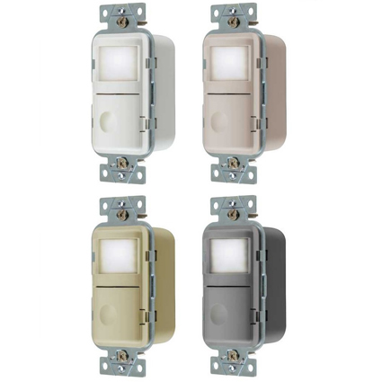 New Smart Nightlight Wall Switch Sensors from Hubbell Wiring Device-Kellems Provide Light Only When Needed