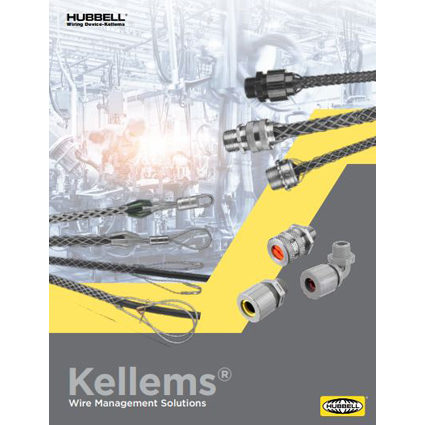 Hubbell Wiring Device-Kellems Highlights Wire Management Solutions in Comprehensive New Guide