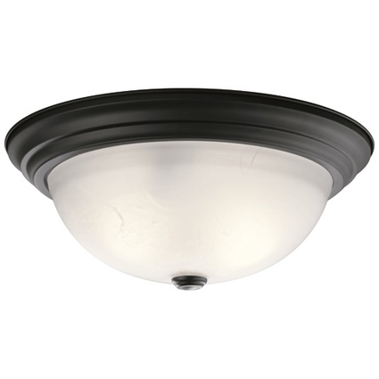 Popular Kichler Flush Mount Now Available with Black Finish