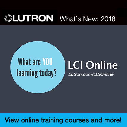 NEW FOR 2018…LUTRON TRAINING OPPORTUNITIES
