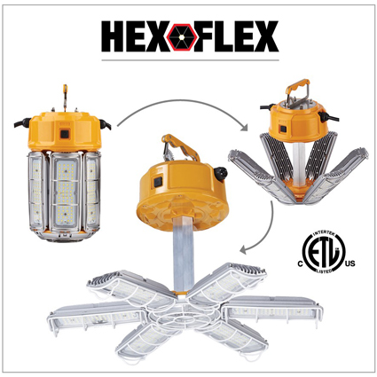 """Hex-Flex"" Multi-Functional LED Area Light"