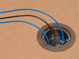 IN BOX™ Floor Box Kit with Recessed Wiring Device