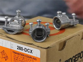280-DCX EMT to AC/MC/FMC/NM Transition Fitting